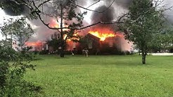 Massive house fire in DeFuniak Springs -- by Lindsey Batchelor
