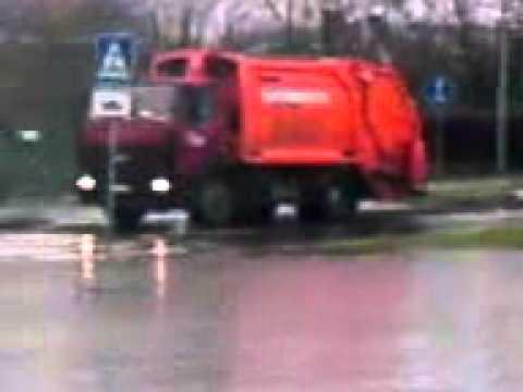 Russian guy walking in the rain and swearing