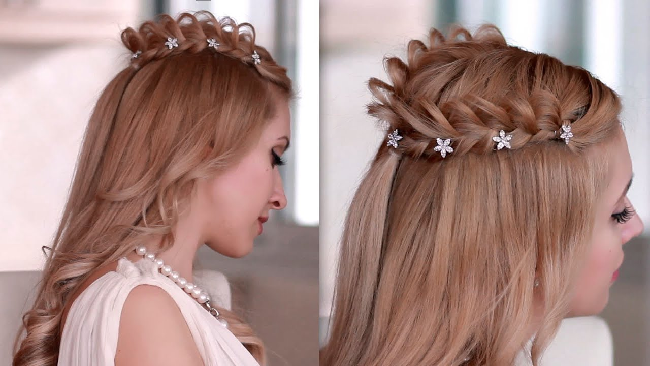 Cosplay hair tutorialbraided crown hairstyle for medium long