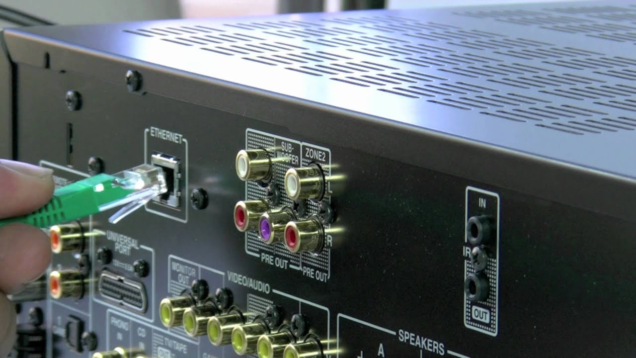 onkyo tx 8050 stereo network receiver how to use youtube
