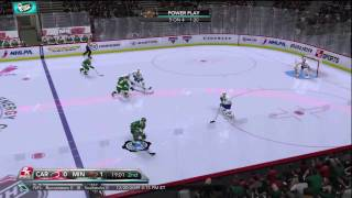 NHL 2K10 - Hurricanes vs Wild (Broadcast Camera Angle) (HD)