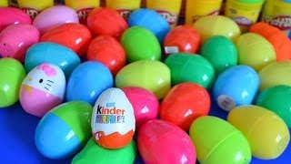 30 surprise eggs play doh kinder surprise lps disney cars thomas and friends hello kitty spiderman