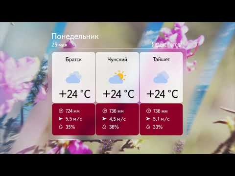 Прогноз погоды на 25 мая 2020