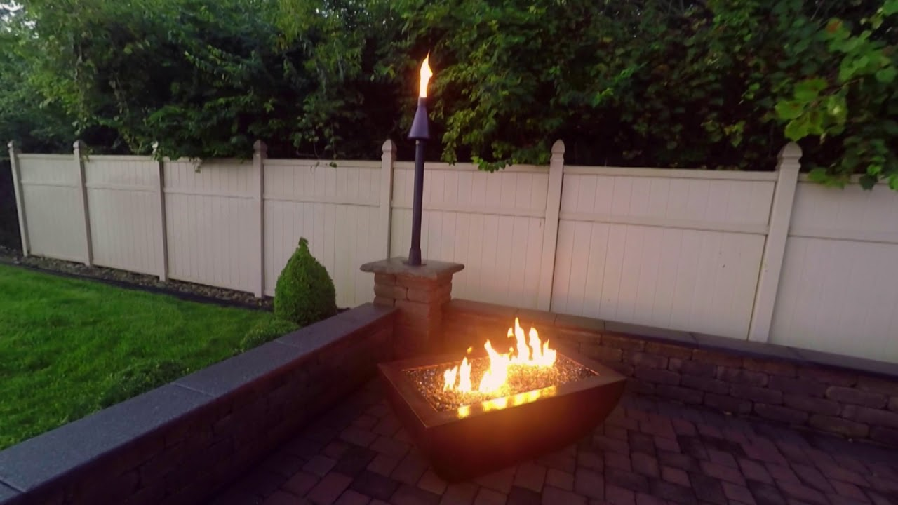 Demonstrating A Copper Fire Pit Burning