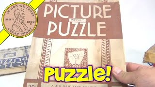 7 Vintage Puzzles - 1930's, 40's, 50's - Big Star, Jig Of The Week, Weekly Picture Puzzle, Wieboldts
