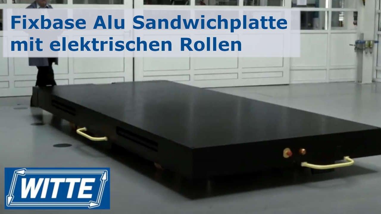 fixbase alu sandwichplatte mit elektrischen rollen rollenplatten youtube. Black Bedroom Furniture Sets. Home Design Ideas