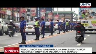 Resolusyon na tutol sa driver-only ban, ini-adapt ng Senado
