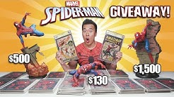 SPIDER-MAN SHOWDOWN!!! 200 Copies of Spider-Man #1! Sofbinal Spider-Man Statue NEW CHANNEL Giveaway!