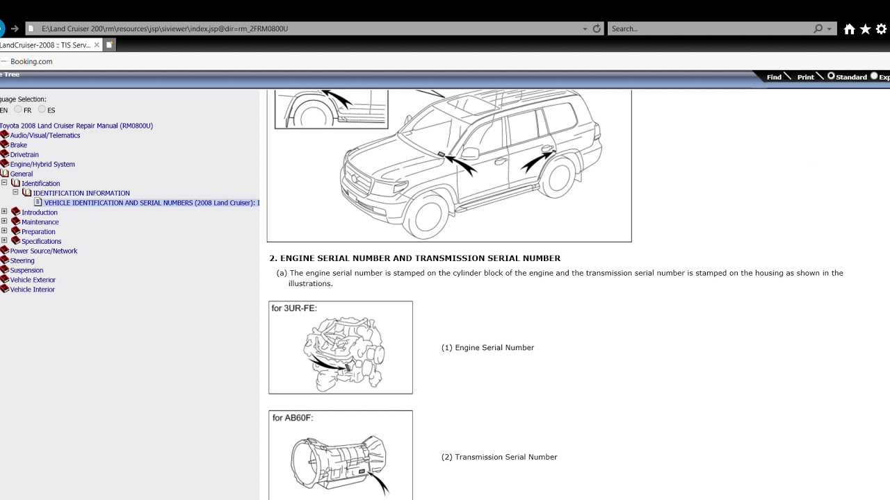 Toyota 2008 Land Cruiser 200 Repair Manual Rm0800u