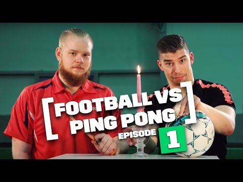 Football and Ping Pong goes head-to-head in this epic battle! Enjoy!