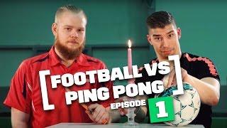 Football vs. Ping Pong | FOOTPONG | Pongfinity vs. Lassi Hurskainen