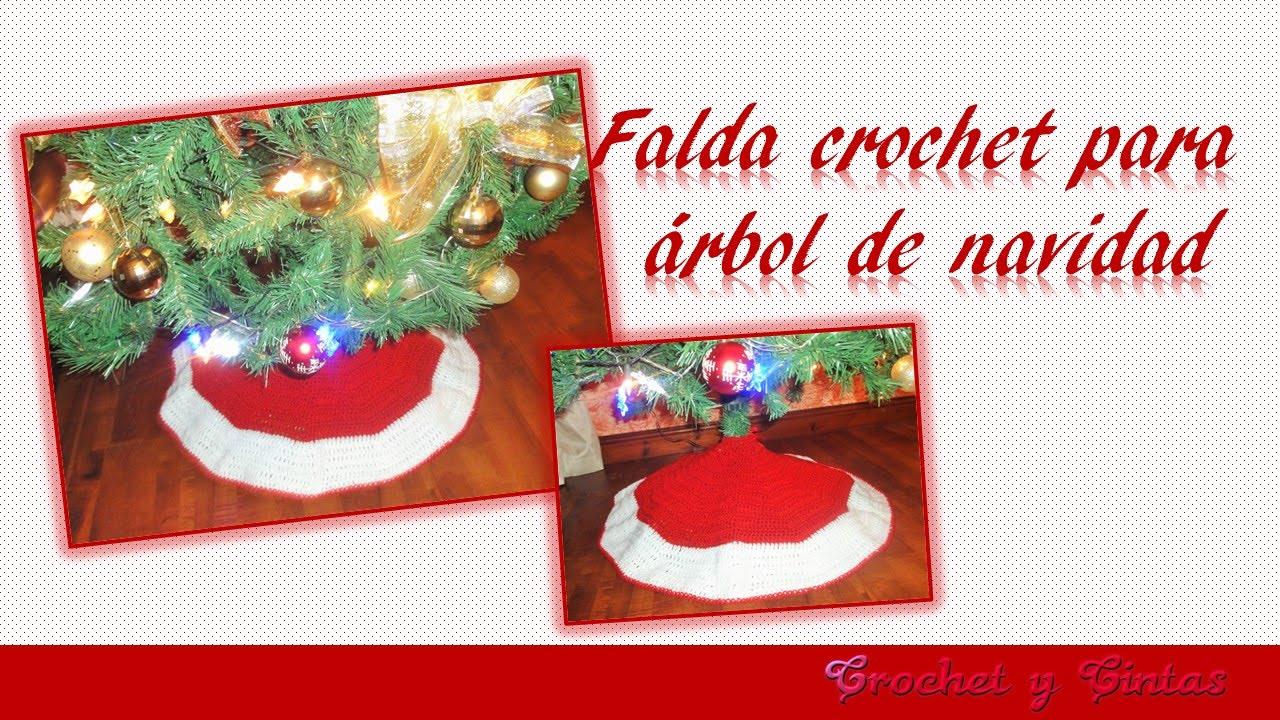 Falda crochet – ganchillo para árbol de navidad - YouTube