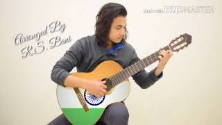 Jana Gana Mana | Indian National Anthem| Guitar instrumental