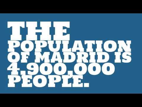 What is the population density of Madrid?