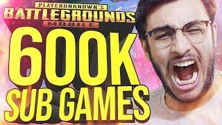 PUBG MOBILE LIVE: 600K SPECIAL SUB GAMES CUSTOM ROOMS | NEW UPDATE | RAWKNEE