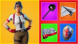 *NEW* AMAZING SKIN COMBOS IN FORTNITE..! (Maven, Vision Pickaxen, Paper Plane..)