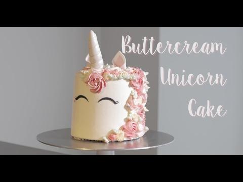 Buttercream Unicorn Cake Tutorial