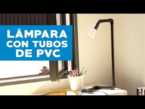 C mo hacer una l mpara con tubos de pvc youtube - Como hacer una lampara ...
