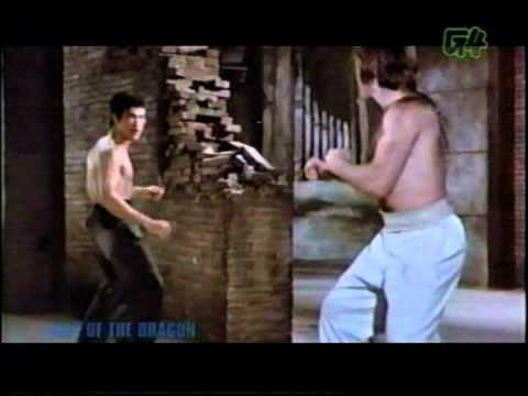 bruce lee vs chuck norris (epic battle)