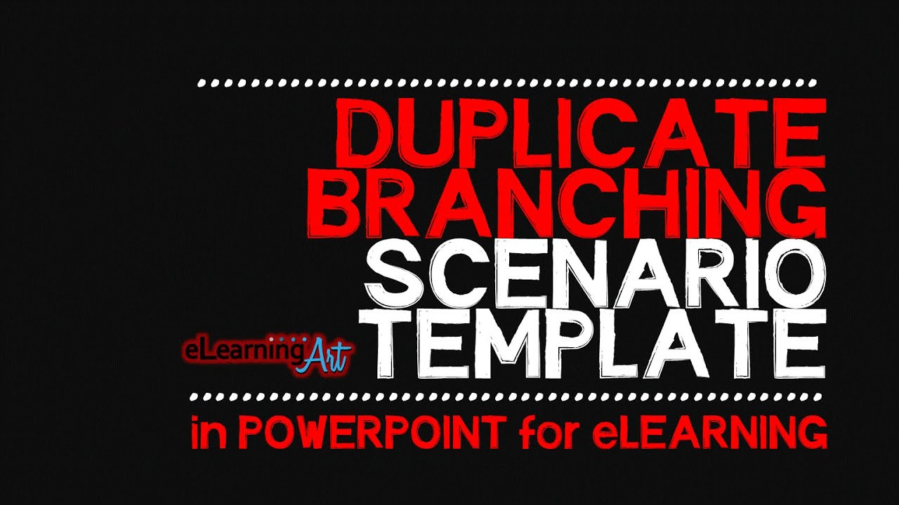 Duplicate Branching Scenario Template in PowerPoint for eLearning ...