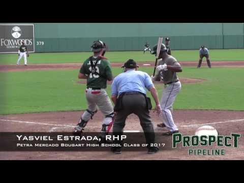 Yashviel Estrada Prospect Video 2, RHP, Petra Mercado Bougart High School Class of 2017