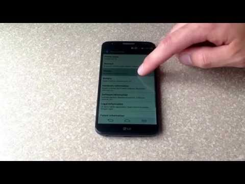 How to check the esn /imei number on a LG G2