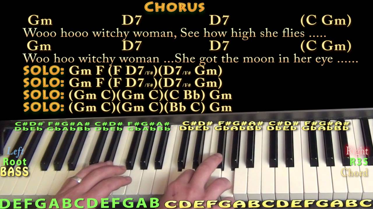 Witchy woman the eagles piano cover lesson in gm with chords witchy woman the eagles piano cover lesson in gm with chordslyrics hexwebz Images
