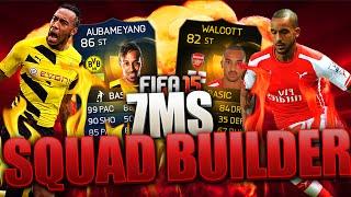 Holy sh*t tots aubameyang vs inform st walcott 7 min squad builder fifa 15!!!