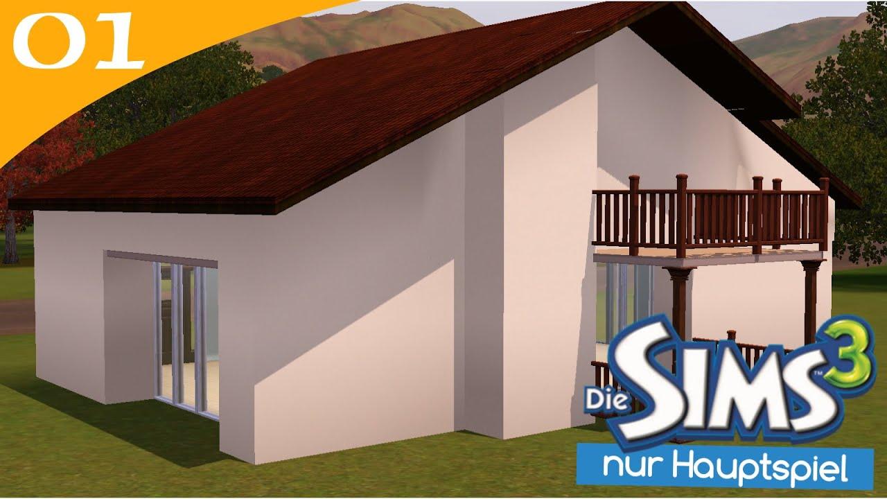 hausbau reihe 1 01 ohne erweiterungen let 39 s build sims 3. Black Bedroom Furniture Sets. Home Design Ideas