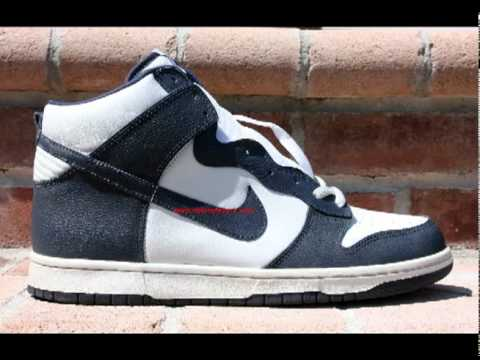 Nike Dunk High 2004 White Midnight Navy 309432 141 - YouTube 609271729584