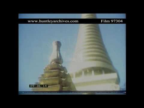 Buddhism in Thailand, 1970's.  Archive film 97304
