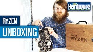 AMD Ryzen 7 1800X Testkit-Unboxing - Stephan packt aus