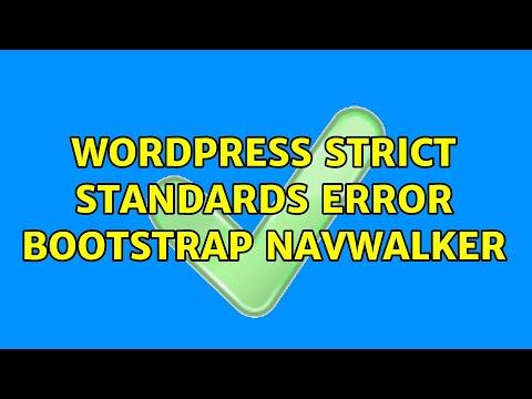 Strict standards wordpress