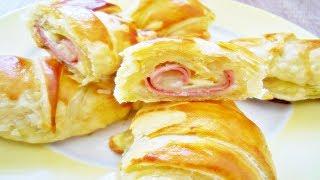 Rezept: Käse Schinken Croissants / Hörnchen / Frühstücksidee / Partyrezept