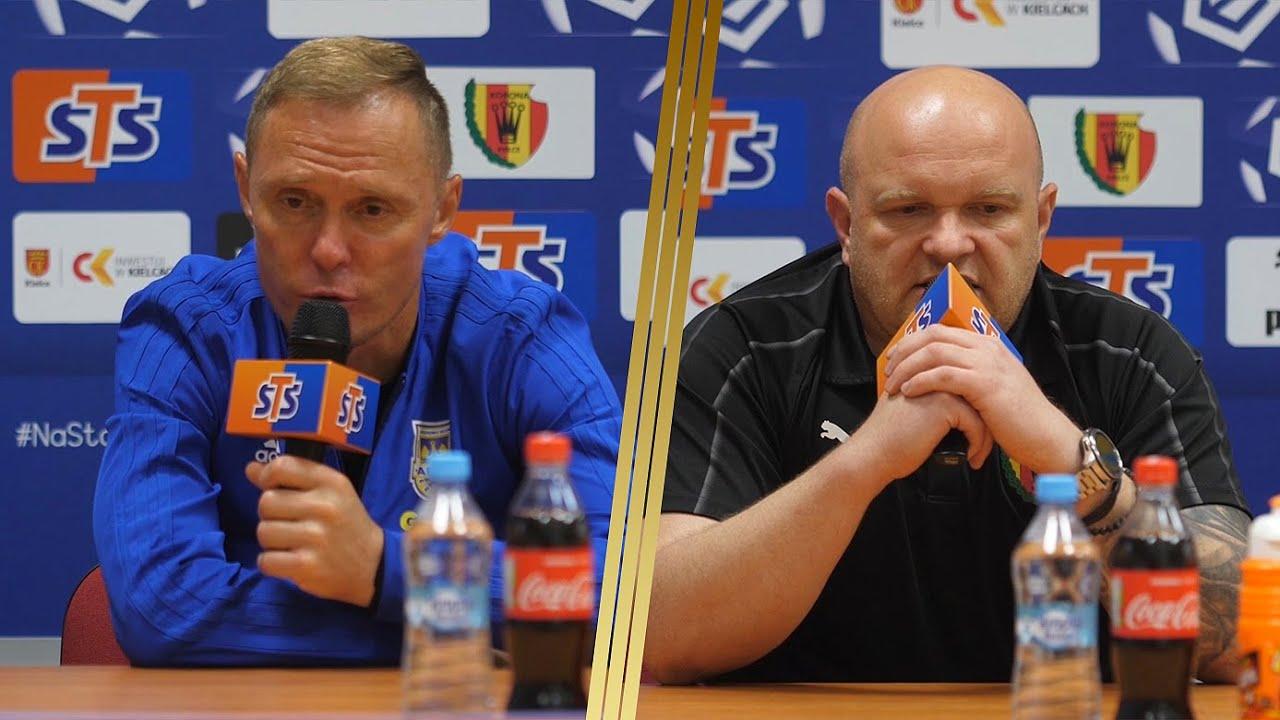 Korona Kielce - Arka Gdynia 1-1: Konferencja prasowa
