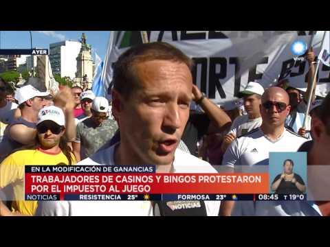 TV Pública Noticias - Protesta de trabajadores de bingos y casinos
