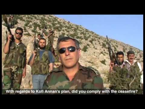 ENGLISH SUBTITLES: An interview with one of the lieutenants of the Free Syrian Army
