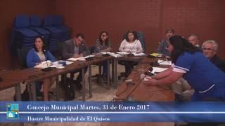 Concejo Municipal Martes 31 de Enero 2017