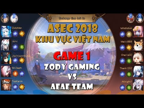 [Giải ASEC Onmyoji Arena 2018] Game 1 - ZODY vs AEAE : Đánh giải còn bị phụ huynh gank ???