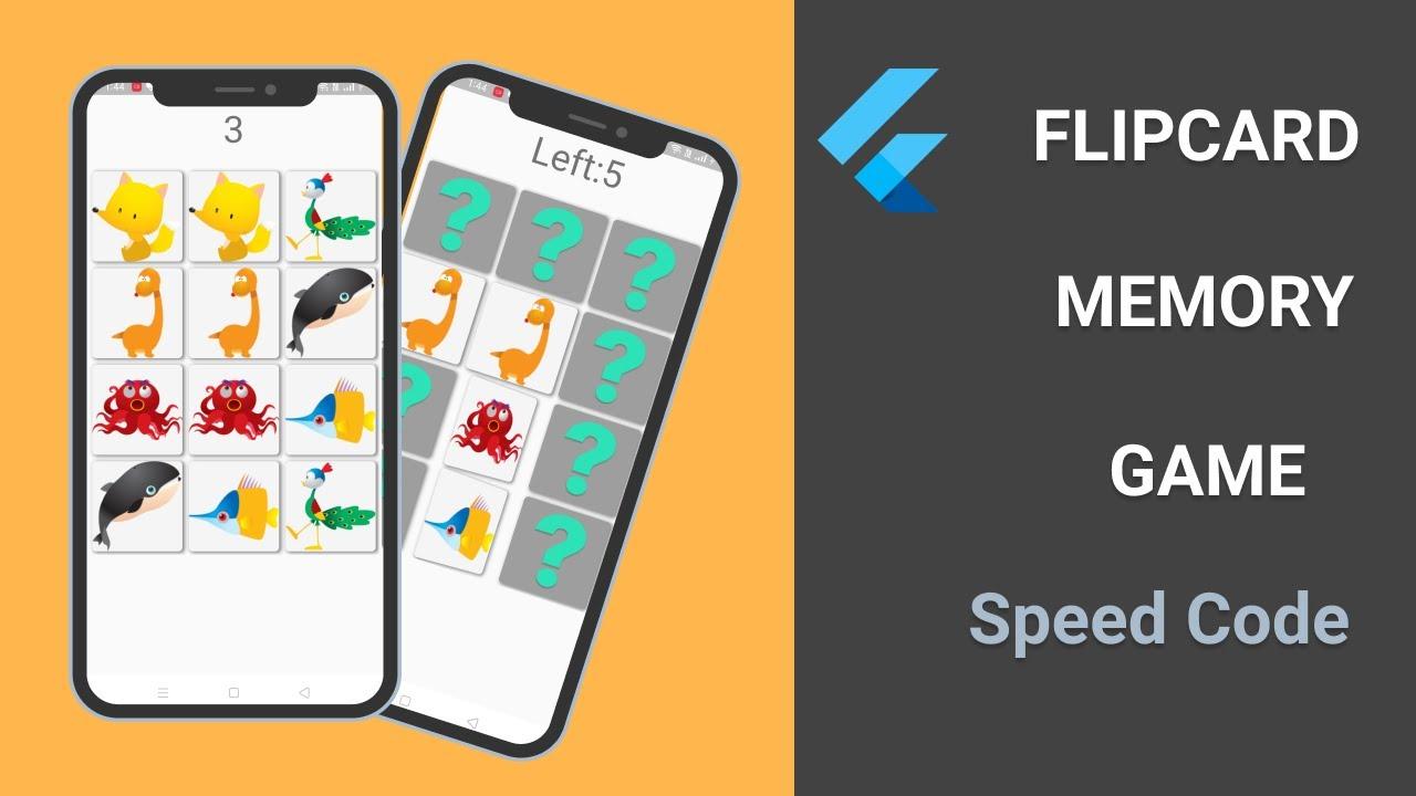 Flutter | FlipCard Memory Game -Full App -Speed Code | Flutter Game Ep - 2