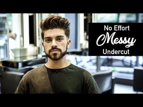 No Effort Messy Undercut 2017   Mens Haircut Inspiration feat. Luca Santangelo   BluMaan 2017