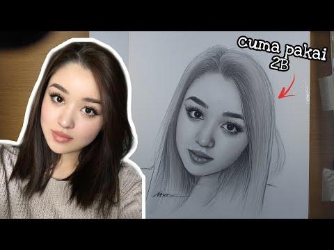 Menggambar DAYANA Wanita Kazakhstan Yang Lagi Viral