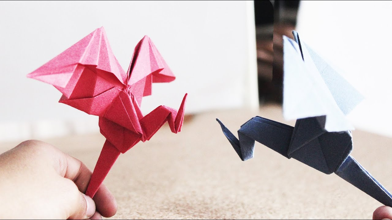 dragon sencillo de papel origami facil youtube