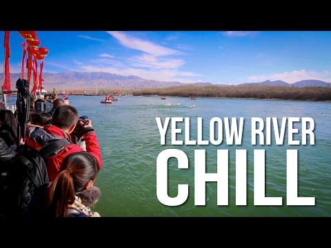 WINTER SWIM ACROSS the YELLOW RIVER in CHINA