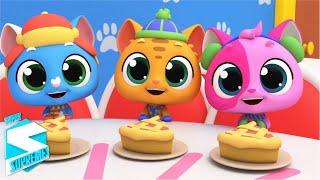 Три маленьких котенка песенка для детей потешки Super Supremes Russia развивающий мультфильм