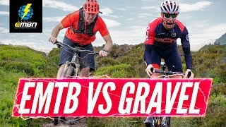 Electric Mountain Bike Vs Gravel Bike | Which Is Faster? | EMBN Vs GCN