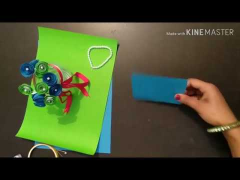 How to make paper quilling flower (easy to make)