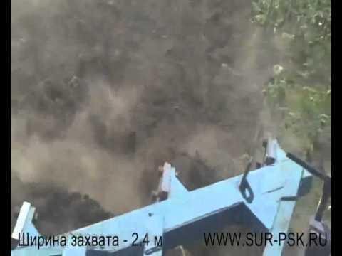 Работа плуга ПСКу-4 (с