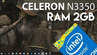 intel Celeron N3350 (HD Graphics) running Resident Evil 4 (RAM 2GB!!!)
