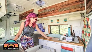 Lawyer Transformed A Nissan Work Van Into An Amazing Tiny House // Solo Female Vanlife